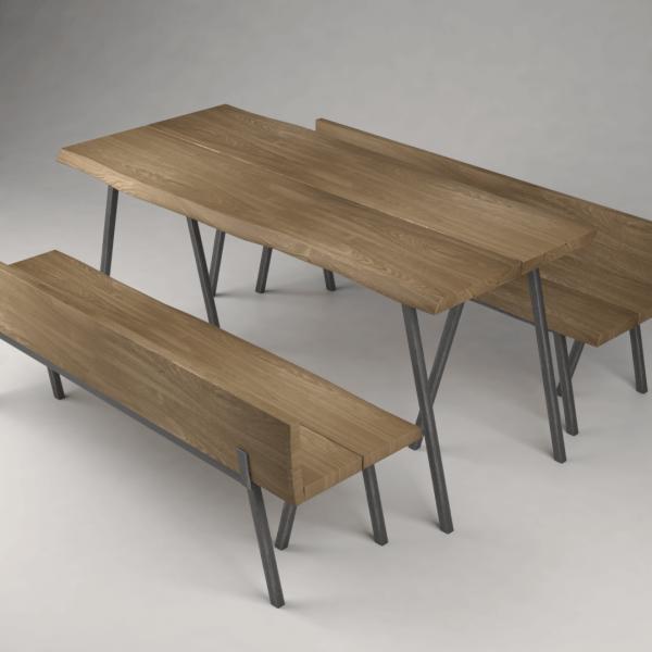 stół loft i ławka