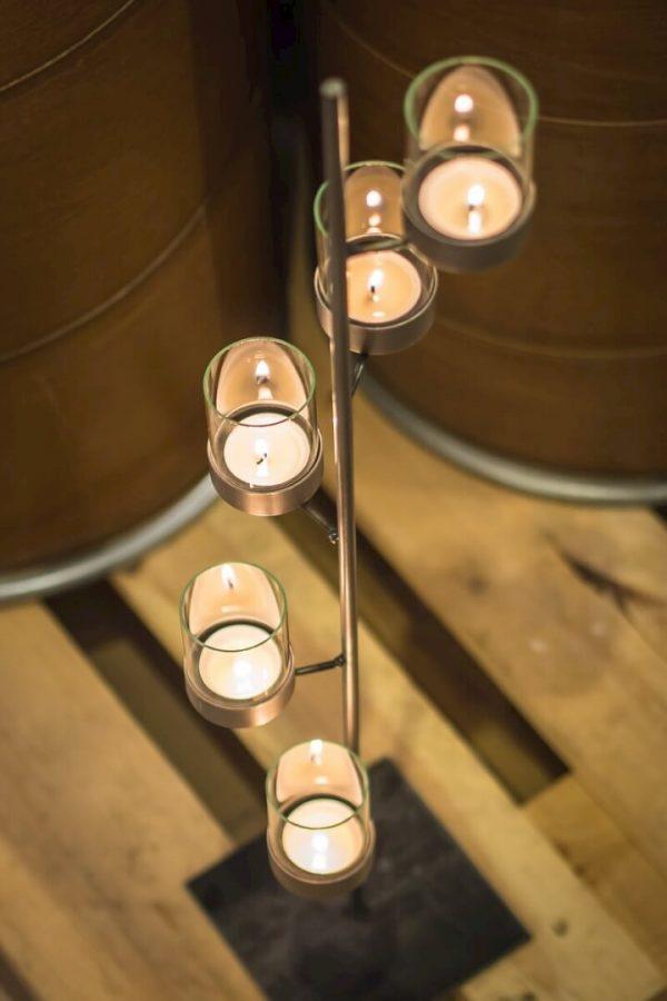 świeczki na regał