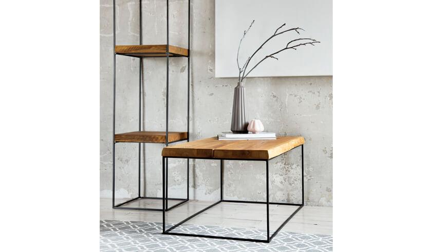Ława loftowa metalowo drewniania