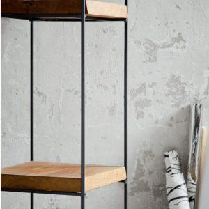 Industrialny regał loftowy - metalowo drewniany