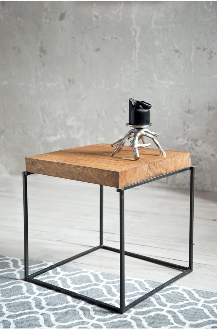Stolik Kawowy Dębowy Oslo Cubo